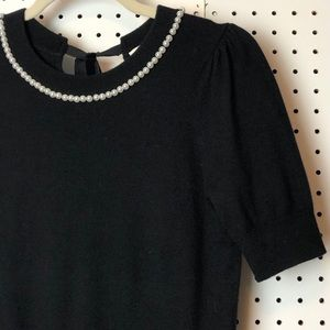 Kate Spade New York Pearl Neck Sweater EUC XS